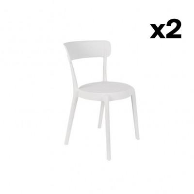 Stuhl Hoppe - 2er Set | Weiß