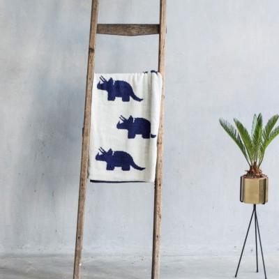 Baby Blanket Dino | Dark Blue