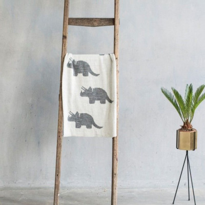 Baby Blanket Dino | Dark Grey