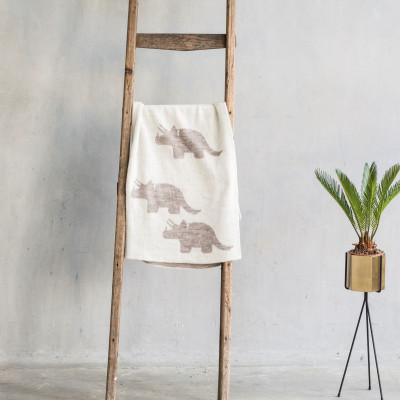Baby Blanket Dino | Seashell Dark