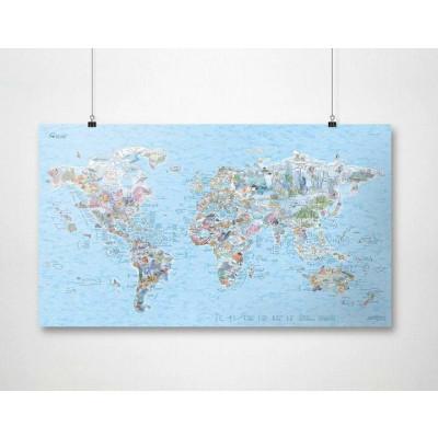 Wiederbeschreibbare Weltkarte   Tauchen