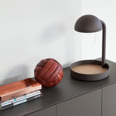 Full Moon Table Lamp | Taupe
