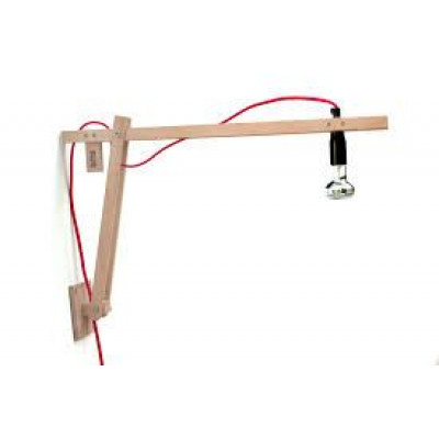 DIY Wandlampe - Rotes Kabel