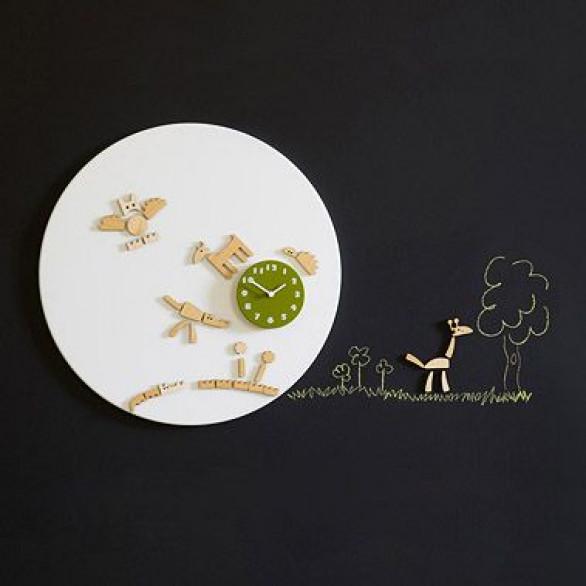Tic Wall Clock Green