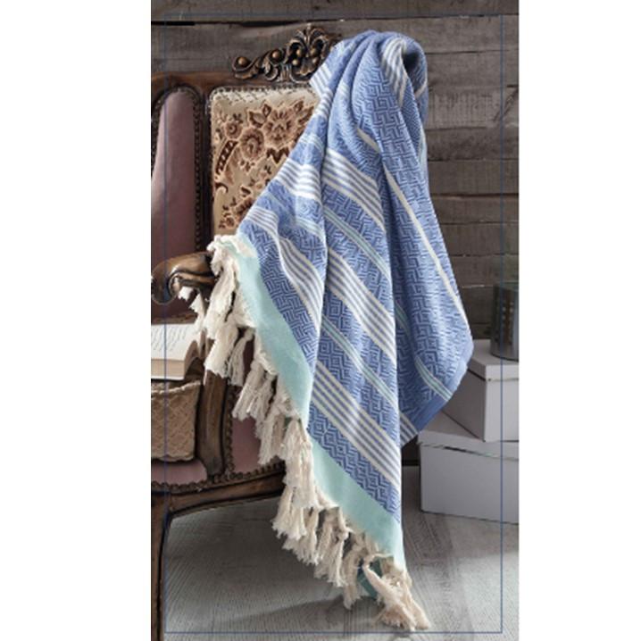 Blanket Diamond Colorful   Blue