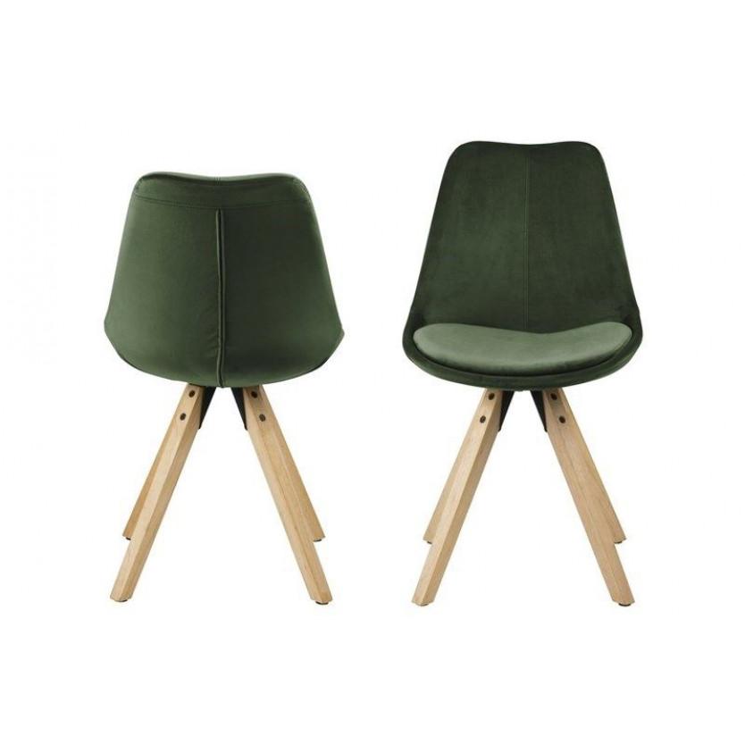 Chaises Nida | Set de 2  | Forêt Verte & Bois