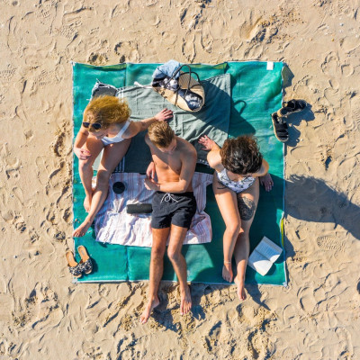 Sandfreie Strandmatte | Blau/Grün