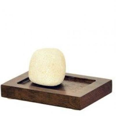 Seifenschale Mezza | Dunkles Holz
