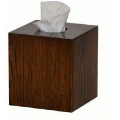 Tissue-Box Mezza-Würfel | Dunkles Holz