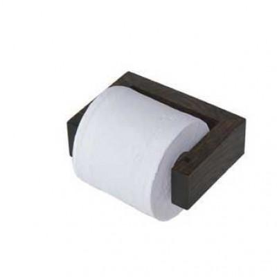 Toilettenrollenhalter Wand Slimline | Dunkles Holz