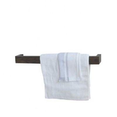 Einzelner Handtuchhalter Slimline 60 cm | Dunkles Holz