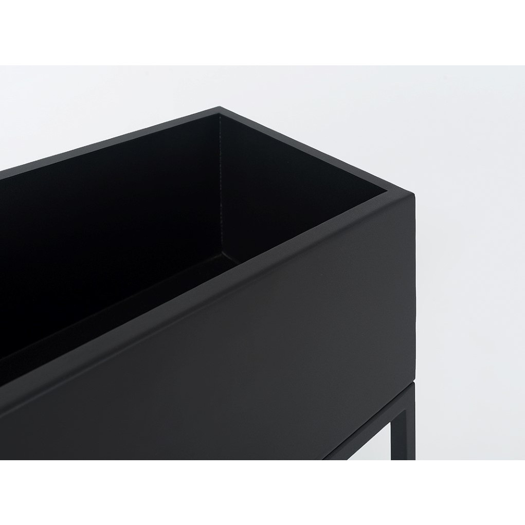 Plant Pot Fiorina | Metal | 100 x 30 x 60 cm | Black
