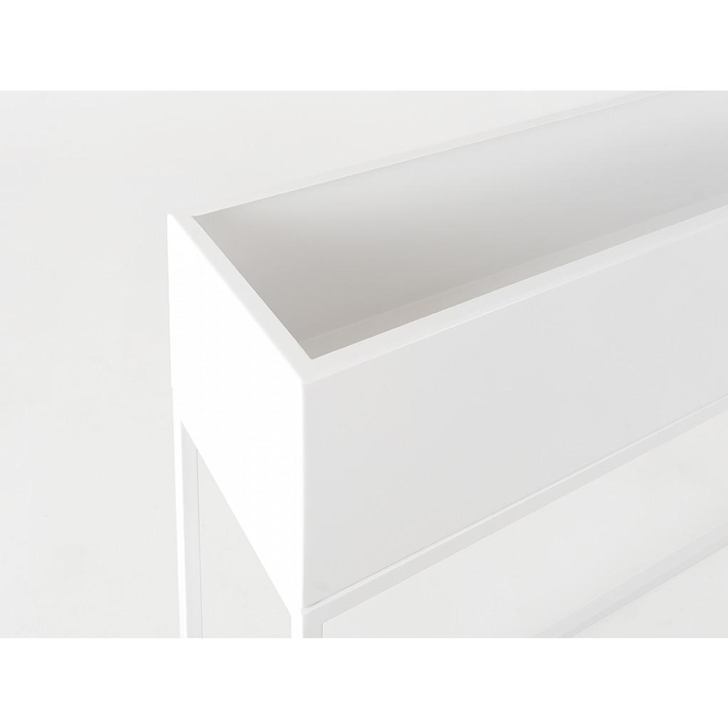 Pflanztopf Fiorina | Metall | 100 x 30 x 80 cm | Weiß