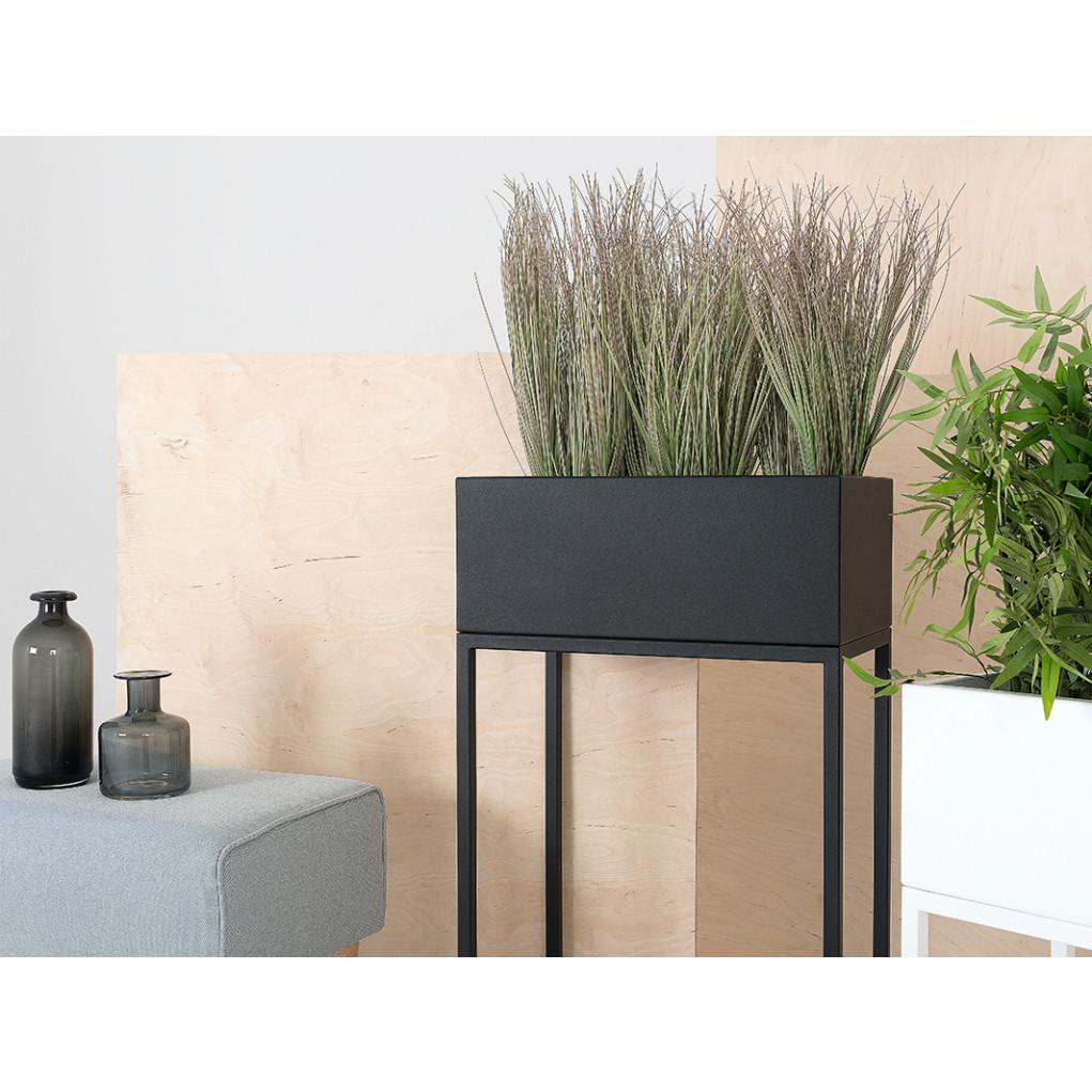 Plant Pot Fiorina | Metal | 50 x 30 x 80 cm | Black