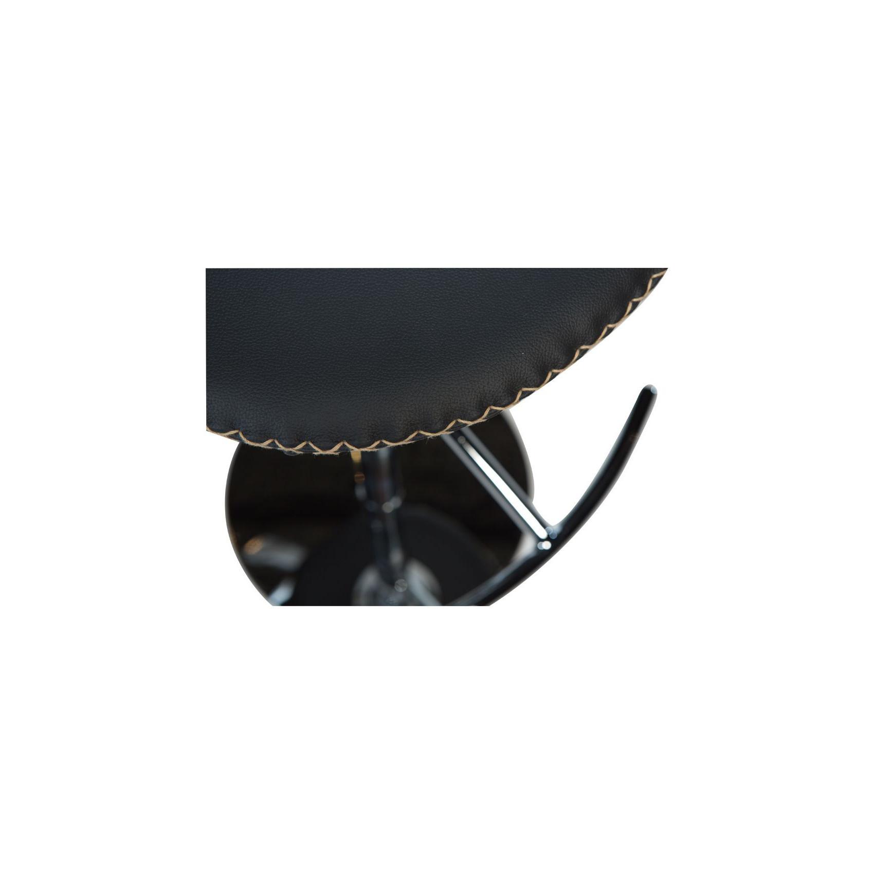Barhocker Dolphin | Stahlgestell / Schwarzes Leder