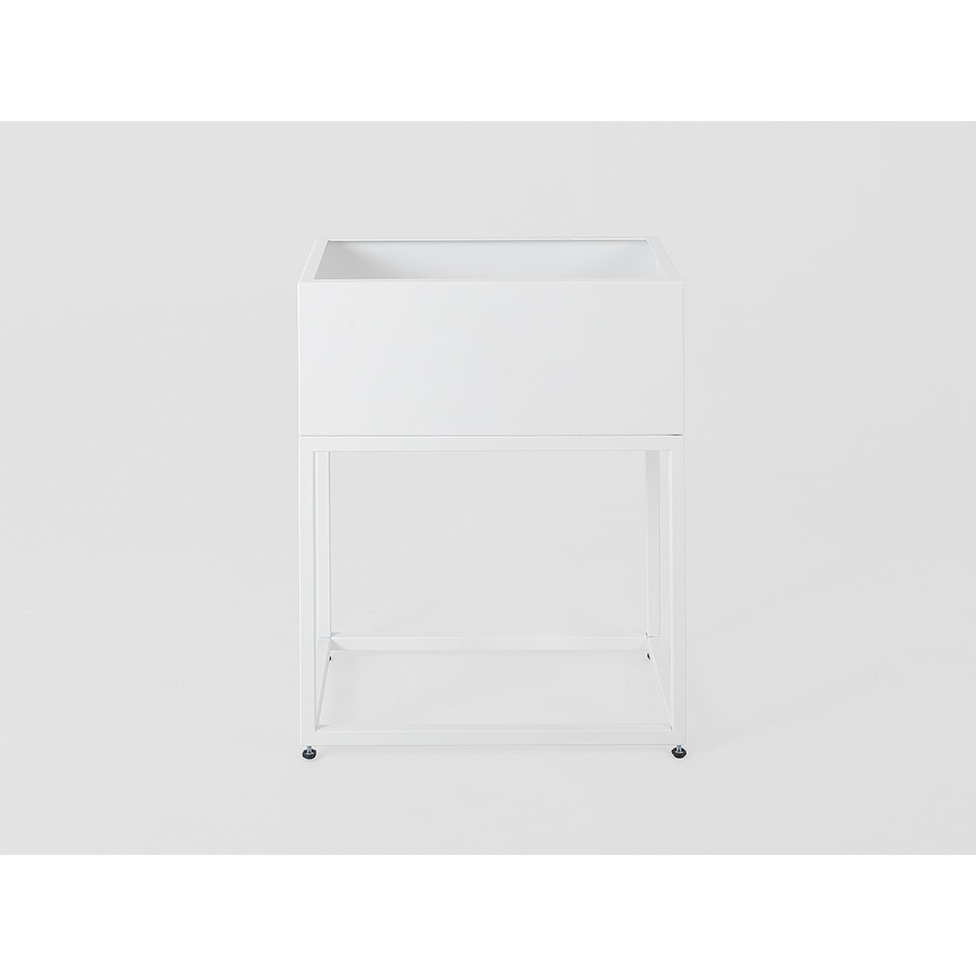 Pflanztopf Fiorina | Metall | 50 x 30 x 60 cm | Weiß