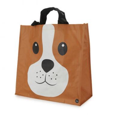 Einkaufstasche Woof   Braun