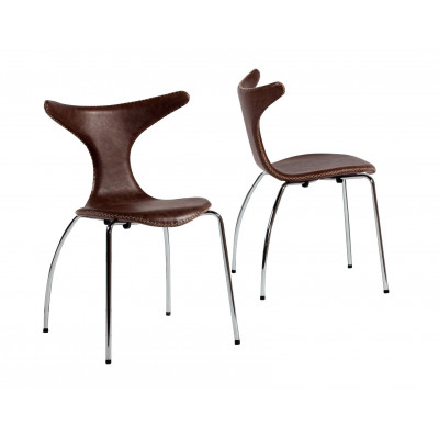Dolphin Chair Leder
