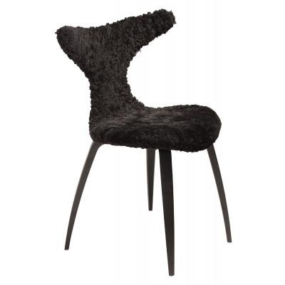 Chair Dolphin Lambskin | Black