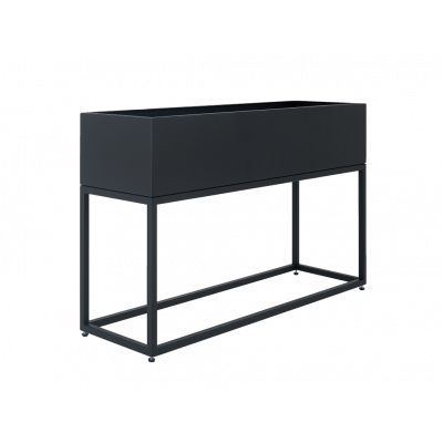 Pflanztopf Fiorina | Metall | 100 x 30 x 60 cm | Schwarz