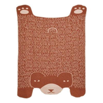 Bear Shaped Throw   Brown