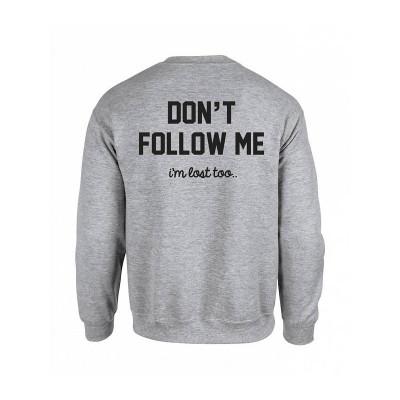 Don't Follow Me Sweater | Grey / Black Text