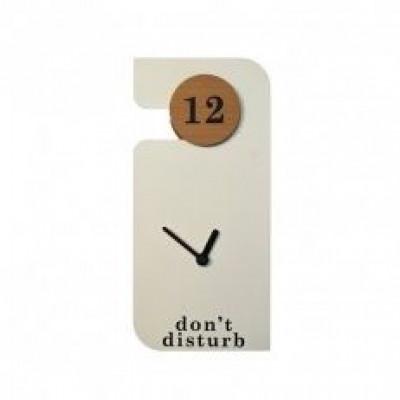 Don't Disturb Uhr | Weiß