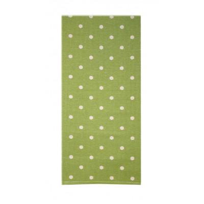 Grüner Fleckerlteppich