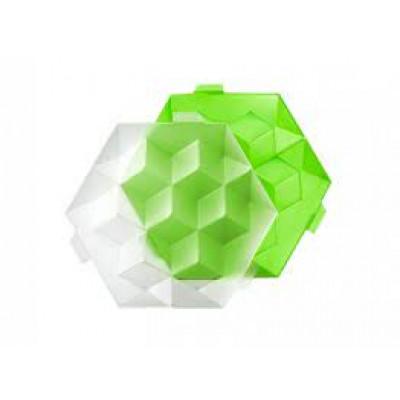 Sechseckige Eiswürfelschale mit Deckel   Grün