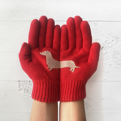 Handschuhe Doxie   Rot
