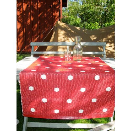 Roter Punkt-Teppich
