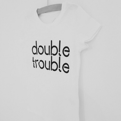 T-Shirt Kids   Double Trouble White