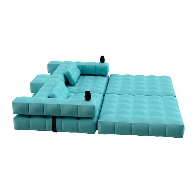 Double Lounger   Aqua Blue