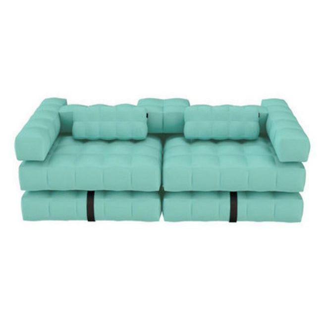 Double Lounger   Aquamarine Green