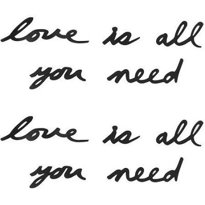 Wall Deco Mantra Liebe ist alles, was man braucht