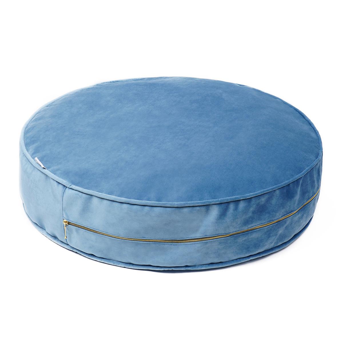 Sitzkissen Samt 60 cm | Blau