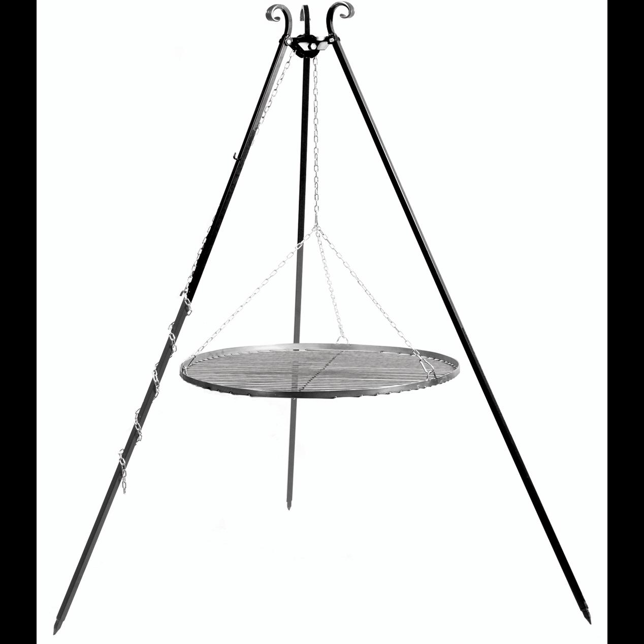 Dreibein 180 cm mit Stahlgrill 60 cm