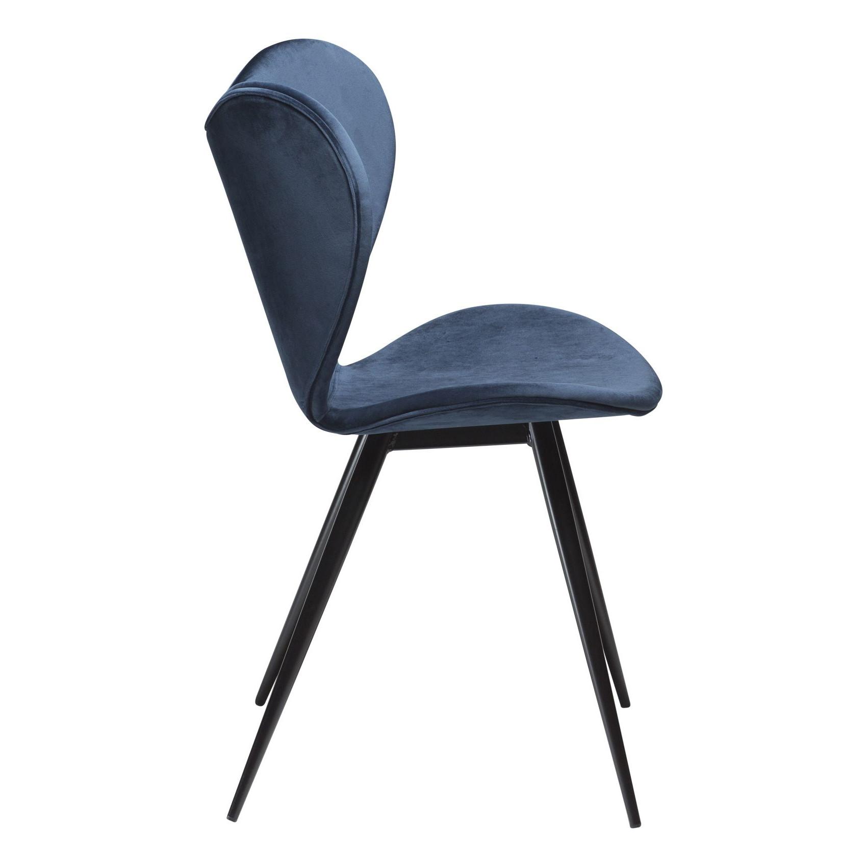 Chaise Dreamer | Velours Bleu