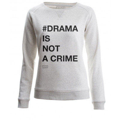 #Drama Is Not a Crime | Long Sleeves Sweater Cream