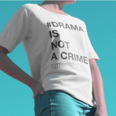 #Drama Is Not a Crime | Short Sleeves Sweater White