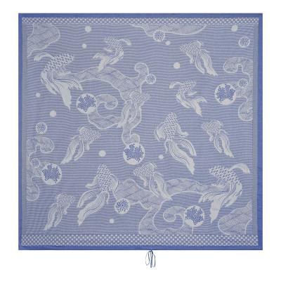 Strandtuch Oceanique 200 x 200 cm | Blau