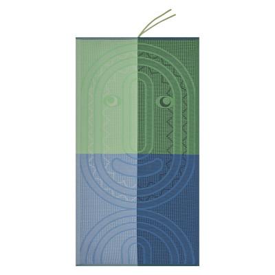Strandtuch Totem Kinder Mineral 140 x 70 cm | Blau/Grün