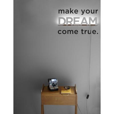 Großbuchstaben DREAM Weiß