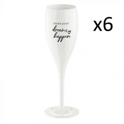 Champagnergläser Dreams Happen | 6er-Set