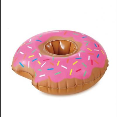 Aufblasbaren Getränkehaltern Donut   Rosa