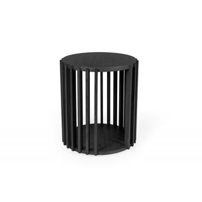 Beistelltisch Drum | Schwarz-Eiche