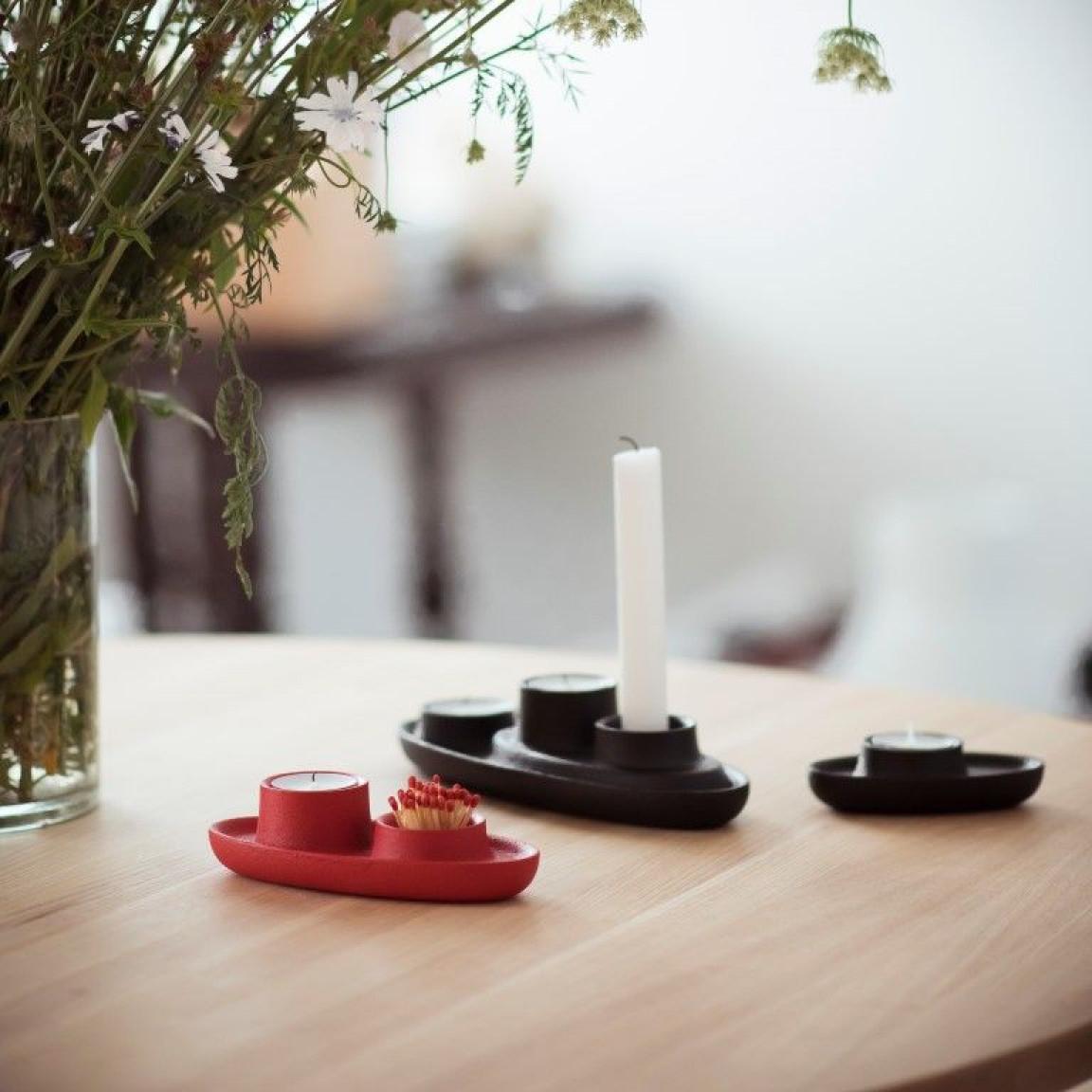 Kerzenhalter für 4 Kerzen   Marine