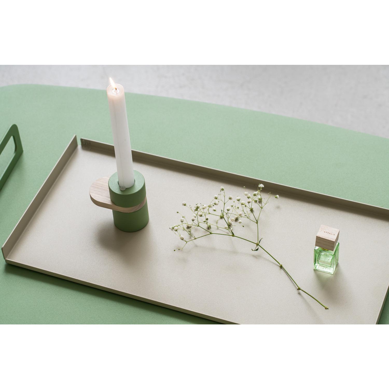 Kerzenständer Heavy Cream | Moosgrün