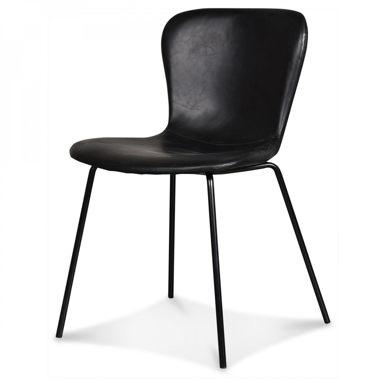 Stuhl Adele   Schwarze Beine & Fast schwarz