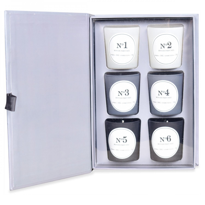 Duftkerze Blind Test Grau | 6er-Set